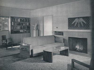 'Living room designed by Honor Easton and Alyne Whalen in a house in Los Angeles', 1942-Unknown-Framed Photographic Print
