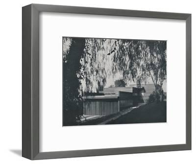 'House at Los Angeles by Richard J Neutra. - The aspect from the road approach', 1942-Unknown-Framed Photographic Print