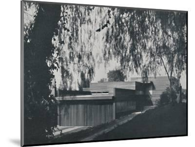 'House at Los Angeles by Richard J Neutra. - The aspect from the road approach', 1942-Unknown-Mounted Photographic Print