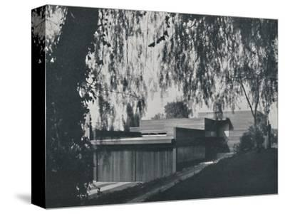 'House at Los Angeles by Richard J Neutra. - The aspect from the road approach', 1942-Unknown-Stretched Canvas Print