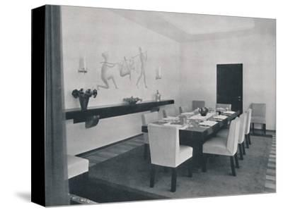 'House in Bucharest by Rudolf Frankel - The dining room', 1942-Unknown-Stretched Canvas Print