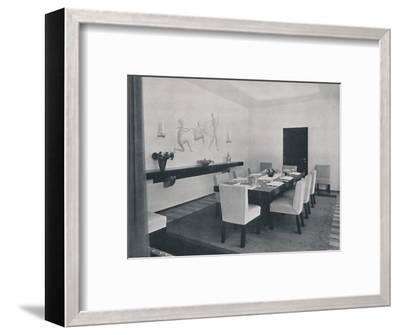 'House in Bucharest by Rudolf Frankel - The dining room', 1942-Unknown-Framed Photographic Print