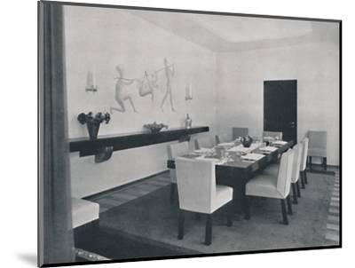 'House in Bucharest by Rudolf Frankel - The dining room', 1942-Unknown-Mounted Photographic Print