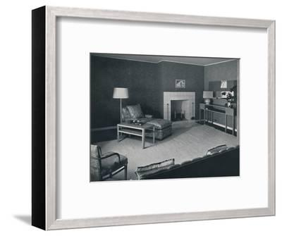 'Bedroom in the house of Mr. Anatole Litvak in Saint Monica, California', 1942-Unknown-Framed Photographic Print