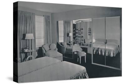 'Bedroom designed by James F. Eppenstein, Chicago', 1942-Unknown-Stretched Canvas Print