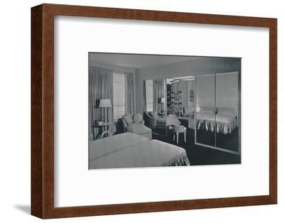 'Bedroom designed by James F. Eppenstein, Chicago', 1942-Unknown-Framed Photographic Print
