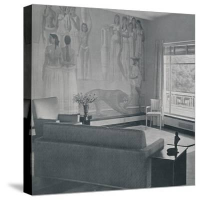 'Living room in the Cafritz residence in Georgetown, Nr. Washington D.C.', 1942-Unknown-Stretched Canvas Print