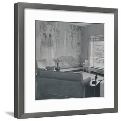'Living room in the Cafritz residence in Georgetown, Nr. Washington D.C.', 1942-Unknown-Framed Photographic Print