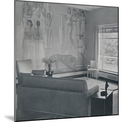 'Living room in the Cafritz residence in Georgetown, Nr. Washington D.C.', 1942-Unknown-Mounted Photographic Print