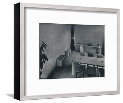 'Dining room of the architect Oliver Hill, F.R.I.B.A.', 1942-Unknown-Framed Photographic Print