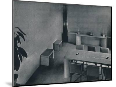 'Dining room of the architect Oliver Hill, F.R.I.B.A.', 1942-Unknown-Mounted Photographic Print