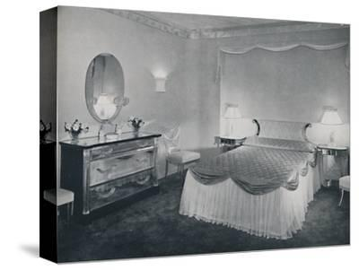 'The vibrant qualities of 'Plexiglas' are used to advantage in this bedroom', 1942-Unknown-Stretched Canvas Print