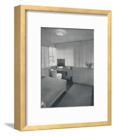 'Simple and practical lines characterise this bedroom', 1942-Unknown-Framed Photographic Print