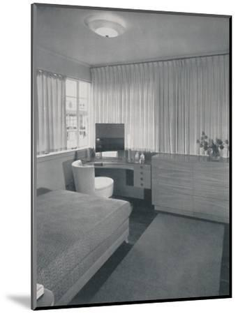 'Simple and practical lines characterise this bedroom', 1942-Unknown-Mounted Photographic Print