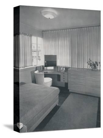 'Simple and practical lines characterise this bedroom', 1942-Unknown-Stretched Canvas Print