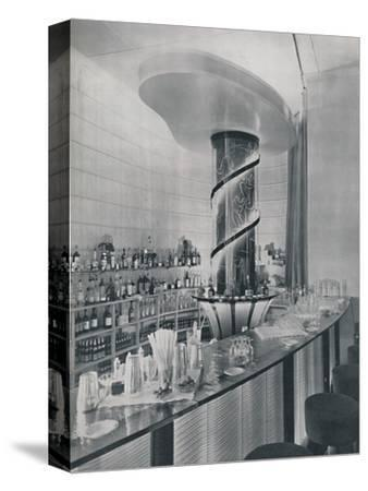 'Bar for a Garden Club Restaurant', 1942-Unknown-Stretched Canvas Print