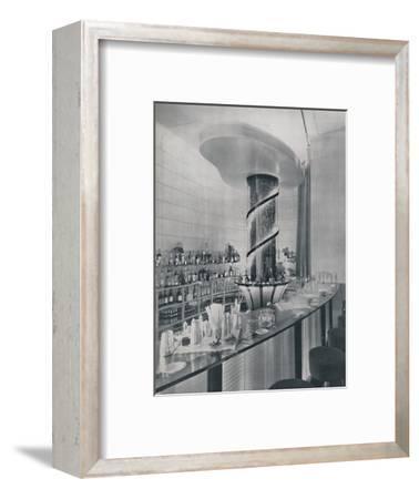 'Bar for a Garden Club Restaurant', 1942-Unknown-Framed Photographic Print