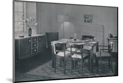'The Dining Room - Walnut and sycamore furniture', 1942-Unknown-Mounted Photographic Print