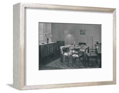 'The Dining Room - Walnut and sycamore furniture', 1942-Unknown-Framed Photographic Print