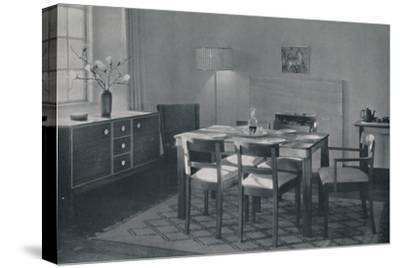 'The Dining Room - Walnut and sycamore furniture', 1942-Unknown-Stretched Canvas Print