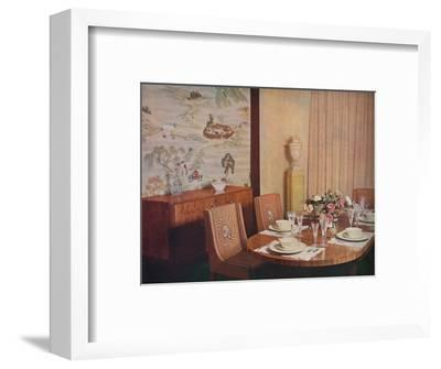 'Dining-room', 1940-Unknown-Framed Photographic Print