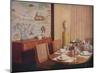 'Dining-room', 1940-Unknown-Mounted Photographic Print