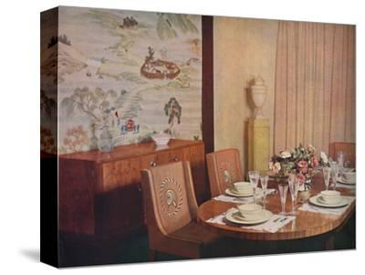 'Dining-room', 1940-Unknown-Stretched Canvas Print