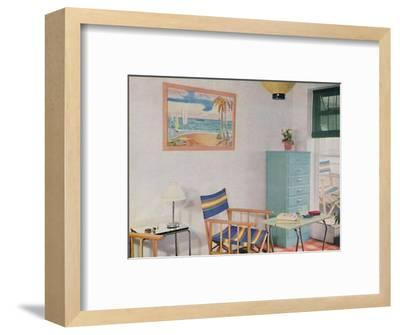 'In this small London flat use has been made of inexpensive furniture', 1940-Unknown-Framed Photographic Print