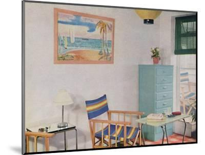 'In this small London flat use has been made of inexpensive furniture', 1940-Unknown-Mounted Photographic Print