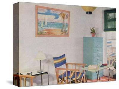 'In this small London flat use has been made of inexpensive furniture', 1940-Unknown-Stretched Canvas Print