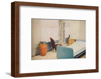 'Hotel bedroom', 1940-Unknown-Framed Photographic Print