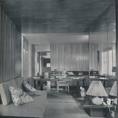'Desk in bedroom-sitting room', 1942-Unknown-Framed Photographic Print