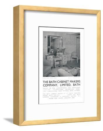 De-luxe state room on board the QSTS Queen Mary, 1942-Unknown-Framed Photographic Print