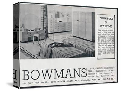 Bowmans advertisement, 1942-Unknown-Stretched Canvas Print