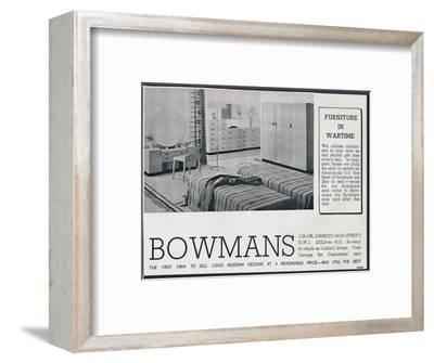 Bowmans advertisement, 1942-Unknown-Framed Photographic Print