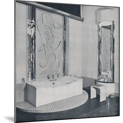 'The Bath Room', 1940-Unknown-Mounted Photographic Print