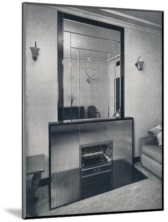 'Electric fireplace and overmantel by James Clark & Son Ltd.', 1940-Unknown-Mounted Photographic Print