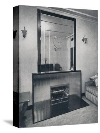 'Electric fireplace and overmantel by James Clark & Son Ltd.', 1940-Unknown-Stretched Canvas Print