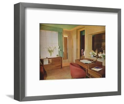 'Two small rooms converted for use as bedroom and study', 1933-Unknown-Framed Photographic Print
