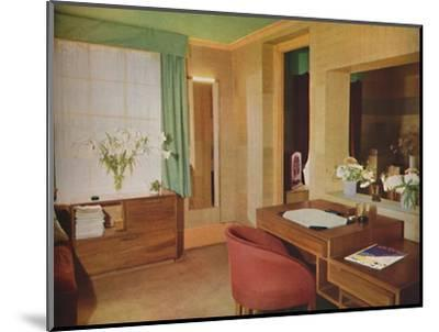 'Two small rooms converted for use as bedroom and study', 1933-Unknown-Mounted Photographic Print