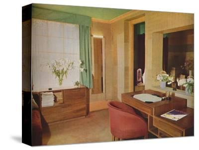 'Two small rooms converted for use as bedroom and study', 1933-Unknown-Stretched Canvas Print