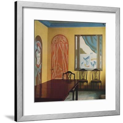 'Wall decorations in a flat at Portman Court', 1933-Unknown-Framed Photographic Print