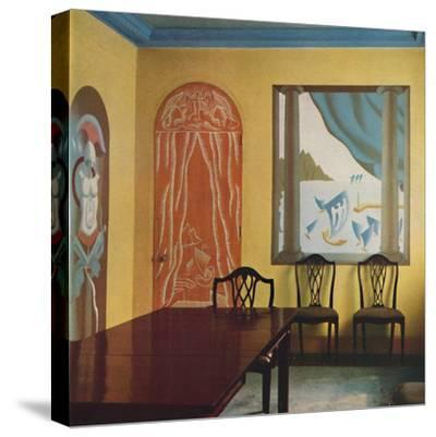 'Wall decorations in a flat at Portman Court', 1933-Unknown-Stretched Canvas Print
