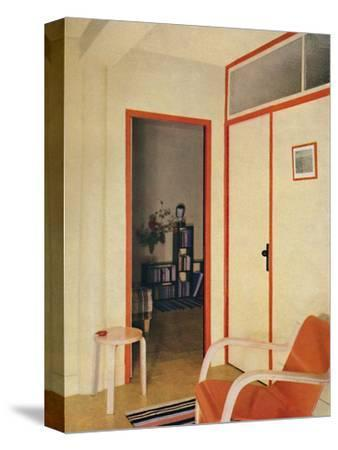 'The entrance hall to Dr. H. J. Modrey's flat at Highfield Court', 1936-Unknown-Stretched Canvas Print