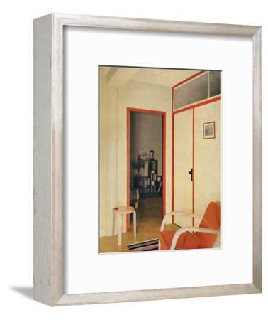 'The entrance hall to Dr. H. J. Modrey's flat at Highfield Court', 1936-Unknown-Framed Photographic Print
