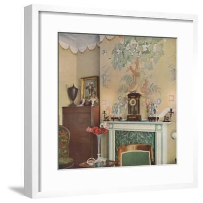 Painted chimney breast, 1933-Unknown-Framed Photographic Print