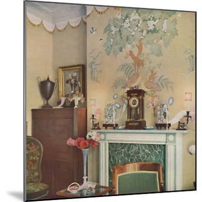 Painted chimney breast, 1933-Unknown-Mounted Photographic Print