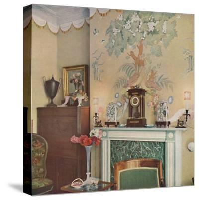 Painted chimney breast, 1933-Unknown-Stretched Canvas Print