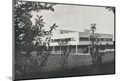 'Villa at Poissy, constructed in reinforced concrete', 1933-Unknown-Mounted Photographic Print