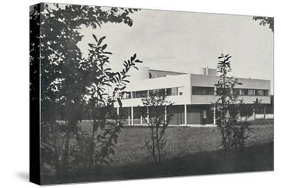 'Villa at Poissy, constructed in reinforced concrete', 1933-Unknown-Stretched Canvas Print